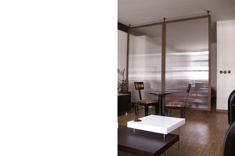 Loft usine schneider l studio studio d architecture et for Cloison translucide en polycarbonate